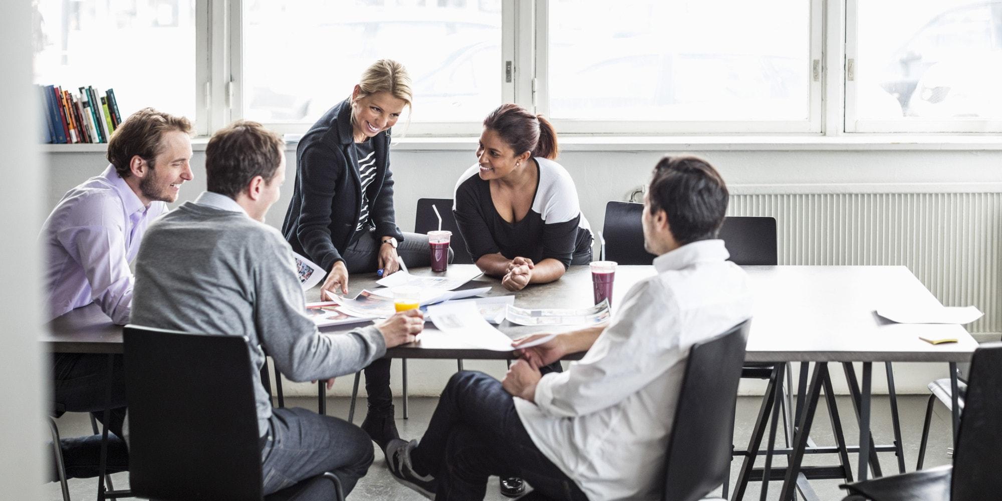 reunião time de vendas