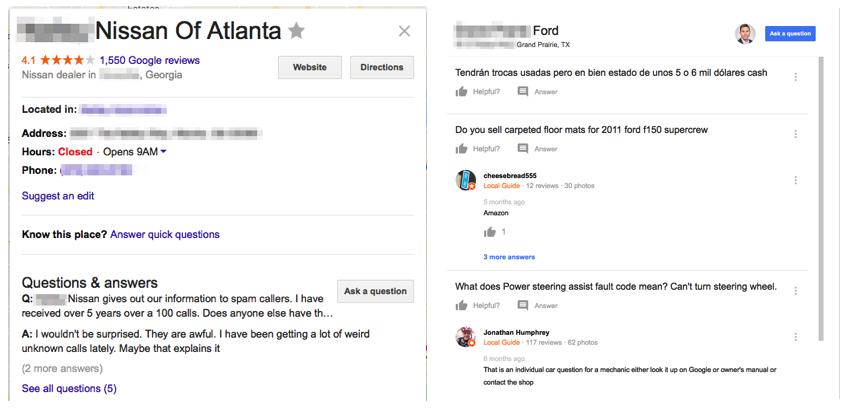 reputação online de concessionárias google meu negócio