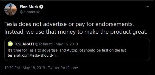 Tesla: Elon musk tweet